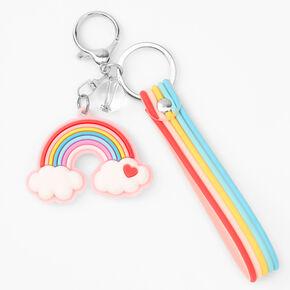 Silicone Pastel Rainbow Keyring,