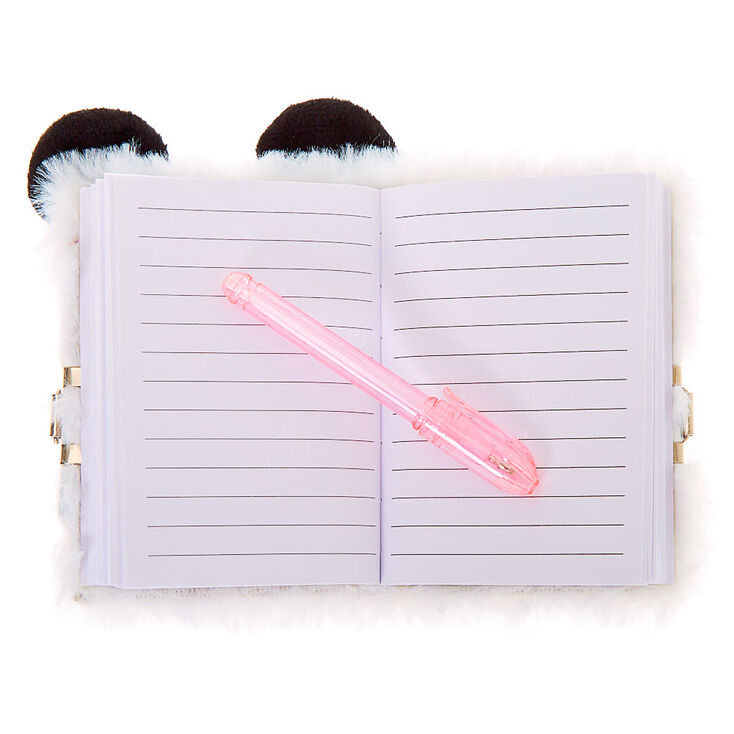 Claire's Club Panda Lock Diary - White,