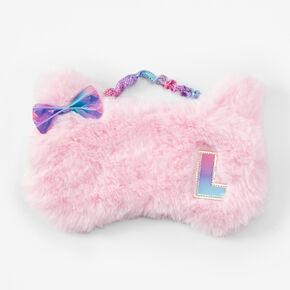 Masque de sommeil chat à initiale - Rose, L,