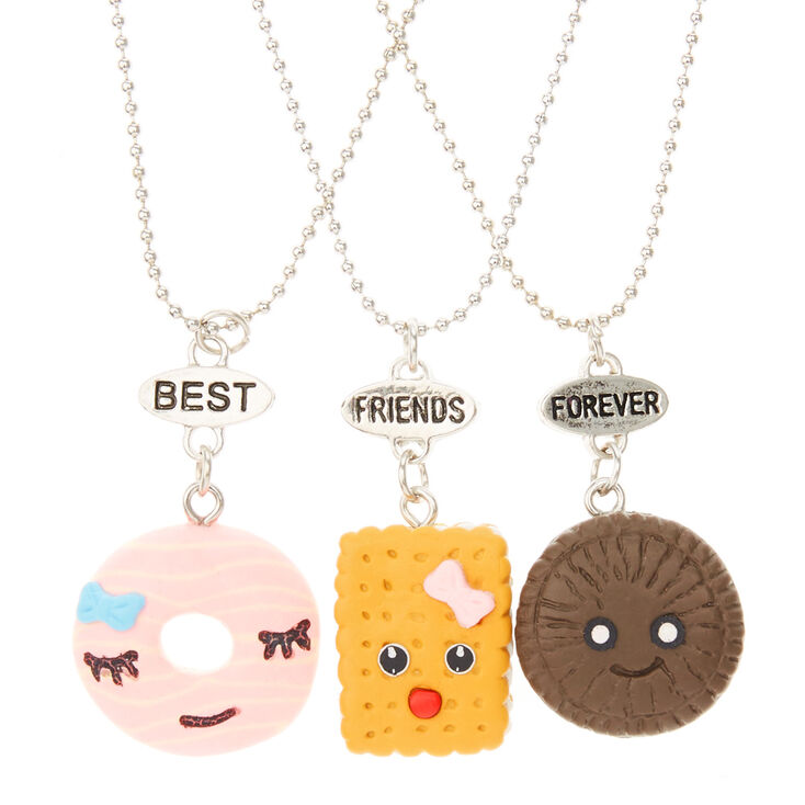 Lot De 3 Colliers D Amitie Bonbons Best Friends Forever Claire S Fr