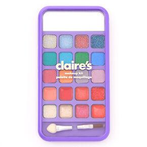 Rainbow Tie Dye Cell Phone Bling Makeup Set - Purple,