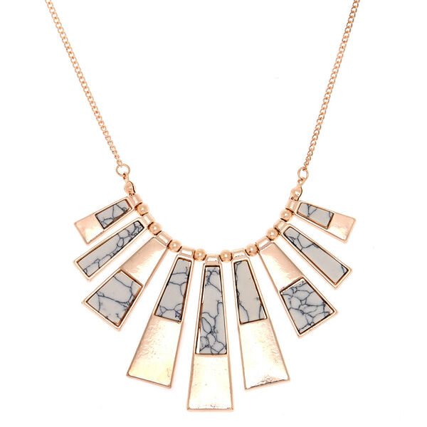 Claire's - marble bar statement necklace - 1