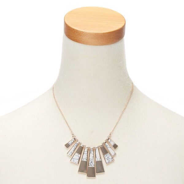 Claire's - marble bar statement necklace - 2