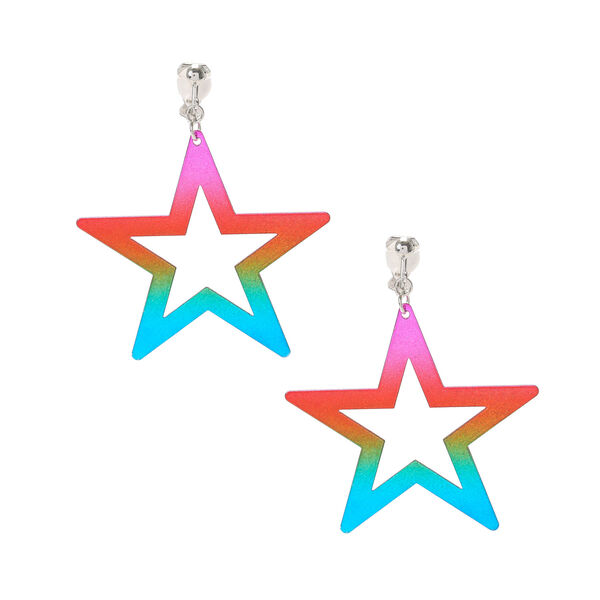 Claire's - clip on star drop earrings - 1