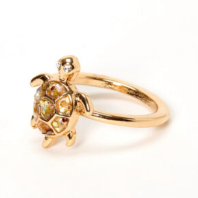 Gold Abalone Turtle Shell Ring,