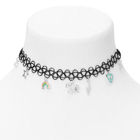 Mixed Magical Charm Tattoo Choker Necklace,