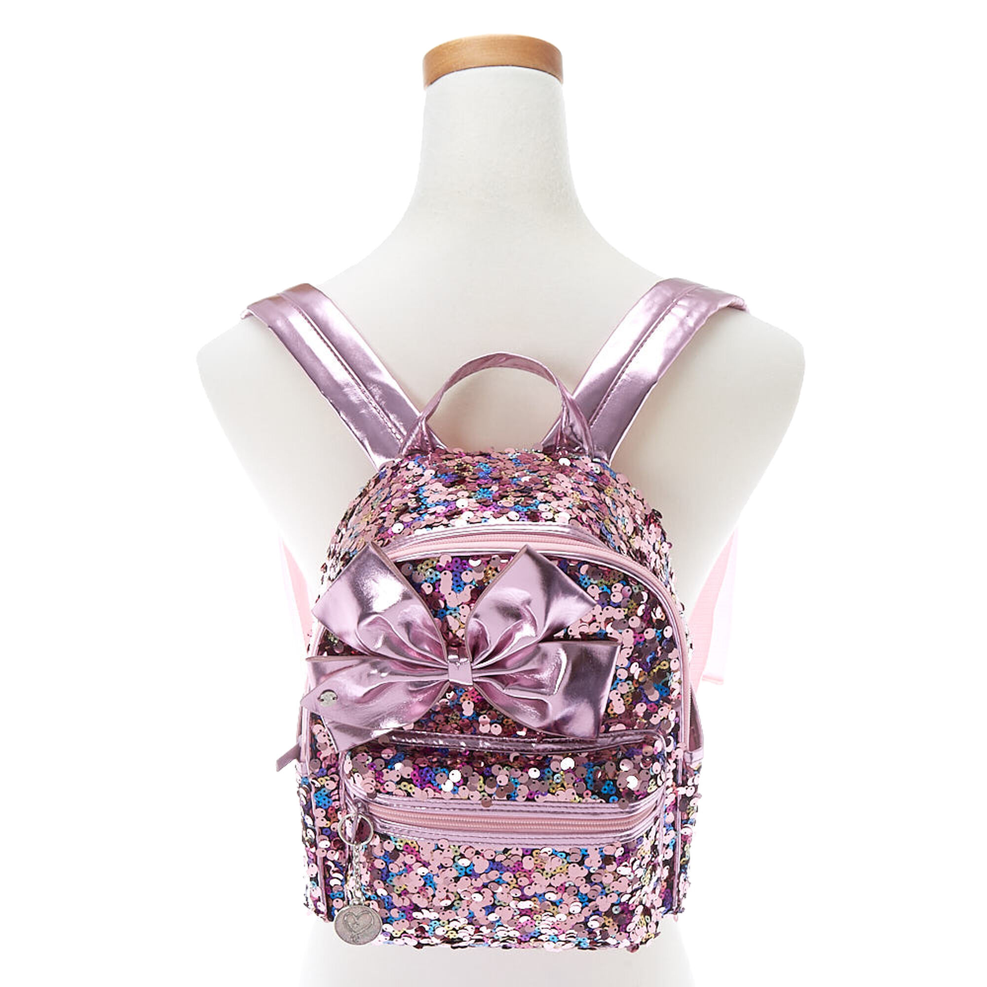 c8a75f830 JoJo Siwa™ Reverse Sequin Midi Backpack - Pink | Claire's US