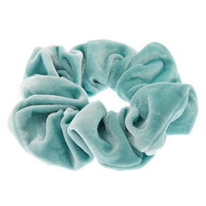 Medium Velvet Hair Scrunchie - Mint,