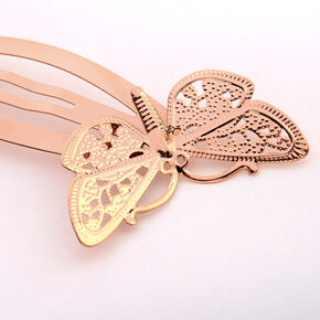 Rose Gold Butterfly Snap Hair Clips - 2 Pack,