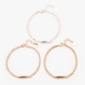 Best Friends Chain Link Bracelets - 3 Pack,
