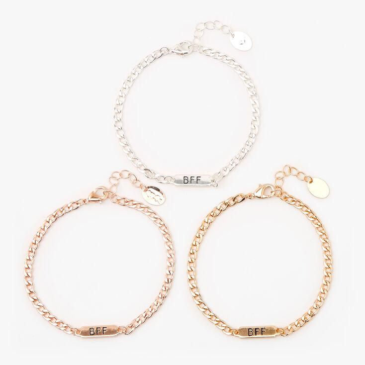 Best Friends Chain Link Bracelets - 3 Pack,