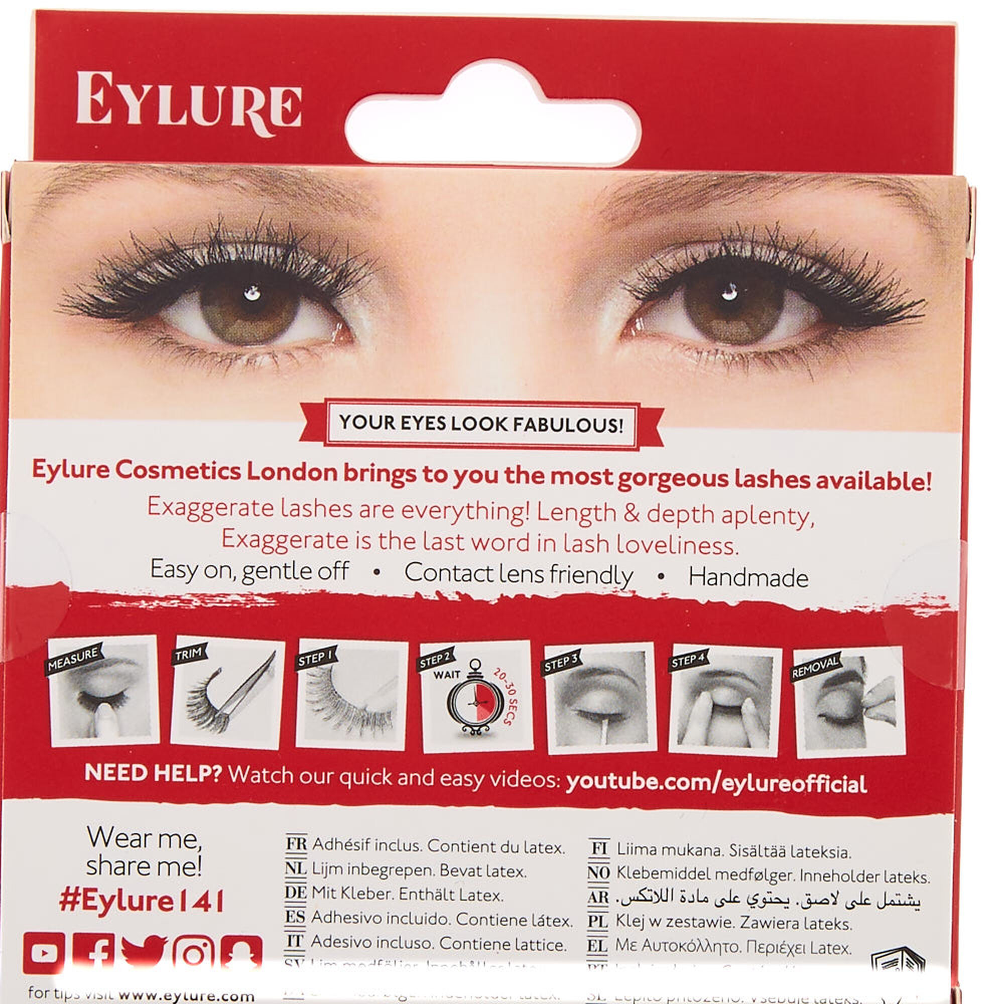 82ef8474cfc Eylure Exaggerate No. 141 False Lashes | Claire's