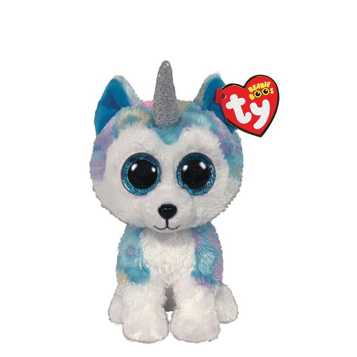 Ty Beanie Boo Small Helena the Unicorn Husky Soft Toy,