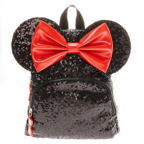 fe069b8a Disney© Minnie Mouse Sequinned Midi Backpack - Black