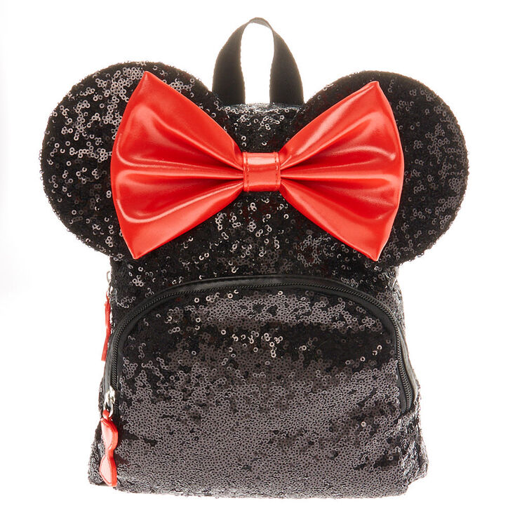 taille 40 89ee5 0918e Disney© Minnie Mouse Sequinned Midi Backpack - Black