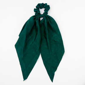 Small Hair Scrunchie Scarf - Emerald,