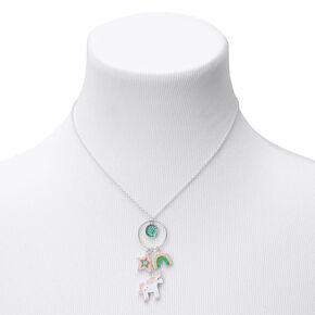 Claire's Club Enamel Unicorn Charm Pendant Necklace,