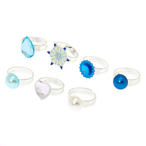 Claire's Club Snowflake Rings - 7 Pack,
