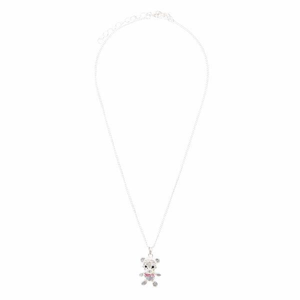 Claire's - cute crystal teddy bear pendant necklace - 2