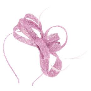 Feather Bow Fascinator Headband - Mauve,