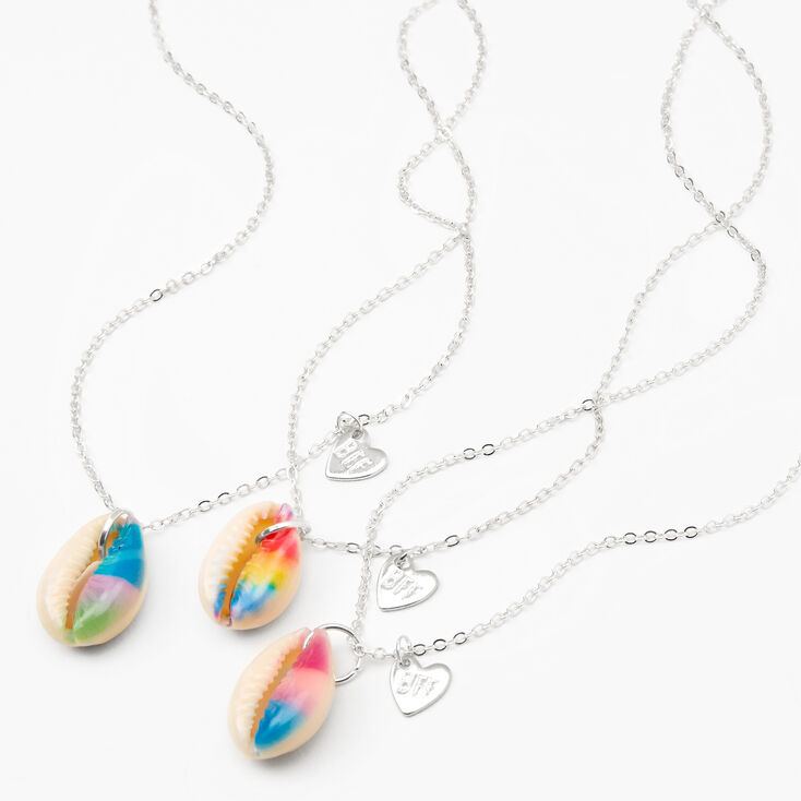 Tie-Dye Cowrie Shell Best Friends Necklaces - 3 Pack,