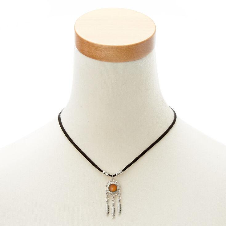 Dreamcatcher Mood Pendant Necklace,