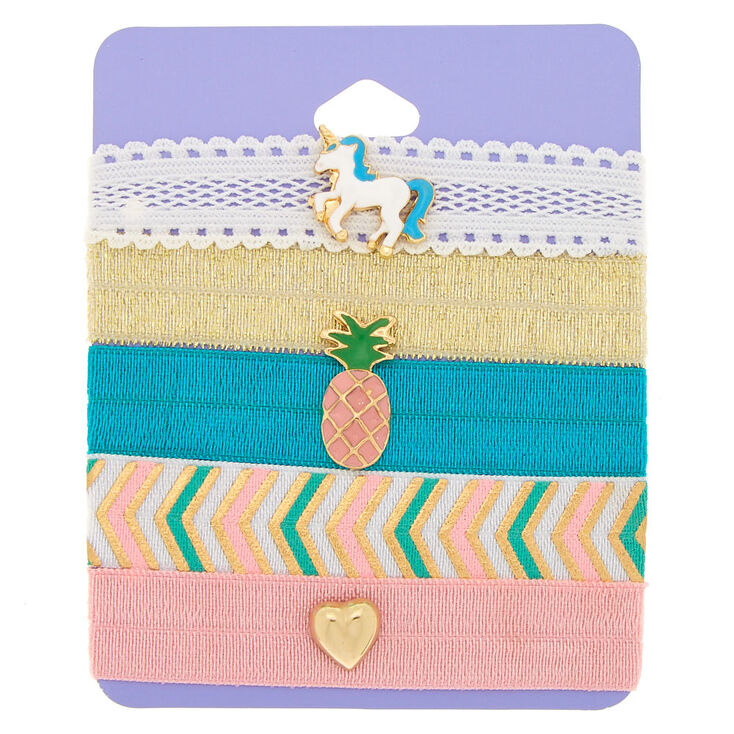 Summer Unicorn Ribbon Stretch Bracelets - 5 Pack,