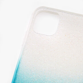 Turquoise Ombre Caviar Glitter Phone Case - Fits iPhone 11,