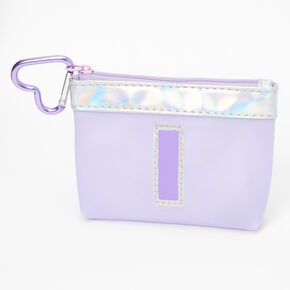 Purple Initial Coin Purse - I,