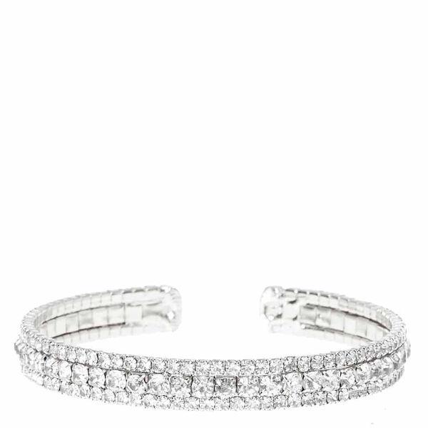 Claire's - rhinestone layered cuff bracelet - 1