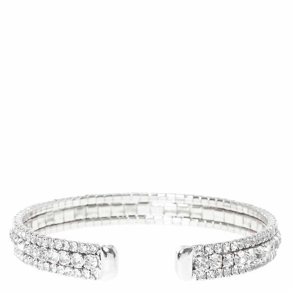 Claire's - rhinestone layered cuff bracelet - 2