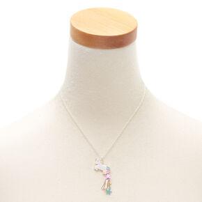 00e28f98b6 Silver Unicorn Star Tassel Pendant Necklace