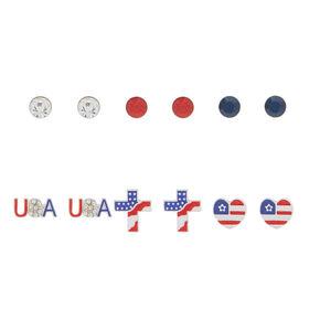 USA Earrings Set - 9 Pack,