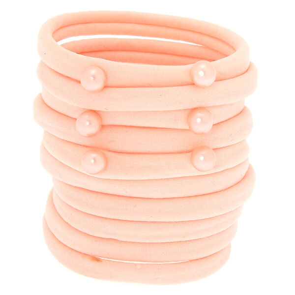 Claire's - pearl hair ties - 1