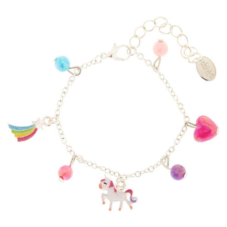 Bracelet à breloques licorne du Club Claire's,