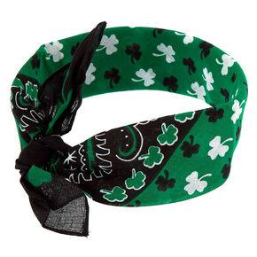 Shamrock Bandana Headwrap - Green,