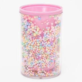 Confetti Plastic Pencil Holder - Pink,