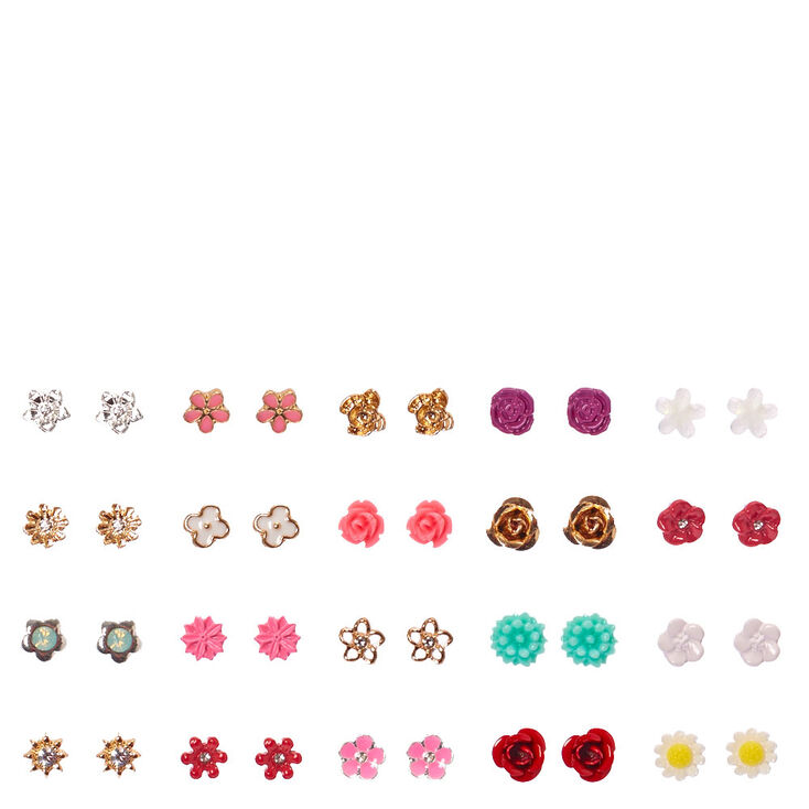 Tiny flower stud earrings set claire 39 s us for Gemsprouts tiny plant jewelry