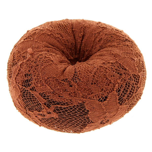 Claire's - large lace hair donut - 2