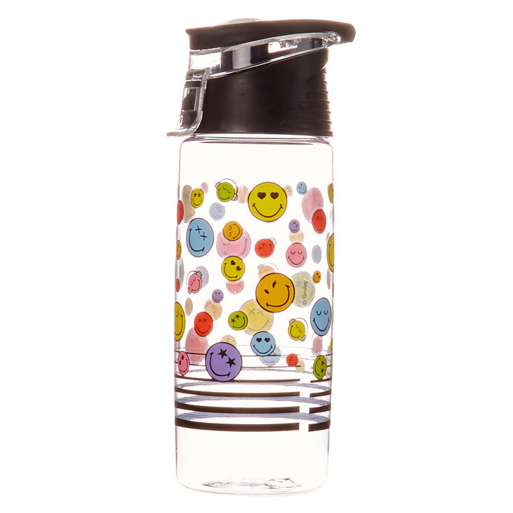 Smiley World Face Water Bottle – Black,