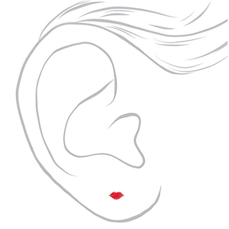 Silver Romantic Stud Earrings - 6 Pack,
