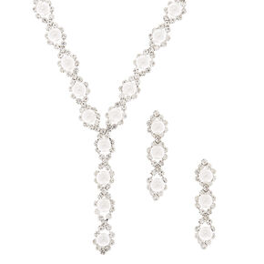 Silver Pearl Linear Jewellery Set - 2 Pack,