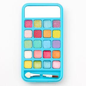 Bling Bubble Tea Fruit Cellphone Makeup Palette - Blue,