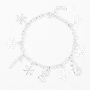 Silver Winter Charm Bracelet,