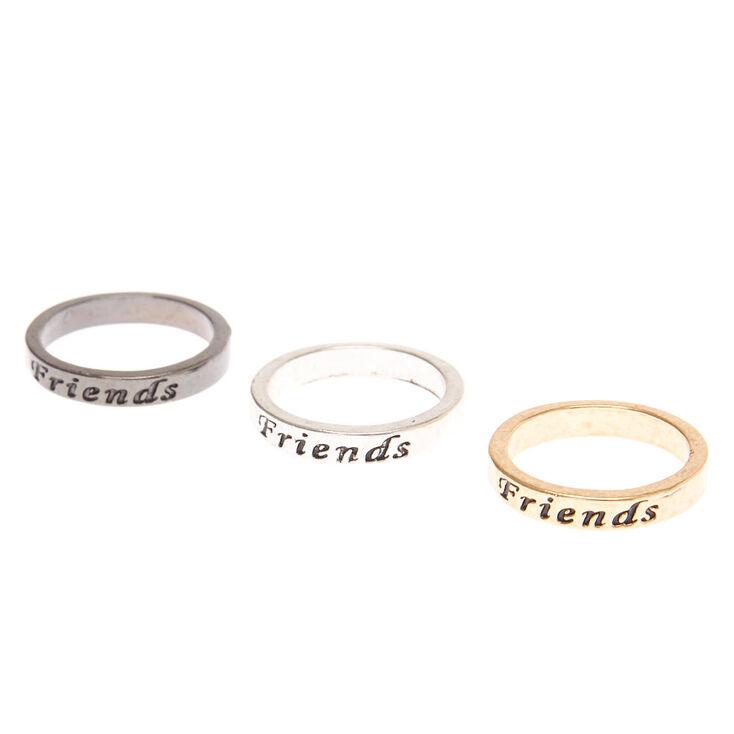 Claire's Lot de 3 bagues best friends en métaux mixtes