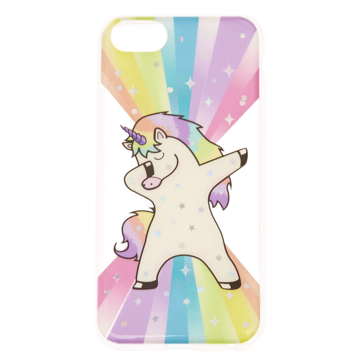 hot sale online 75198 16120 Rainbow Rock Star Dabbing Unicorn Phone Case - Fits iPhone 6/7/8