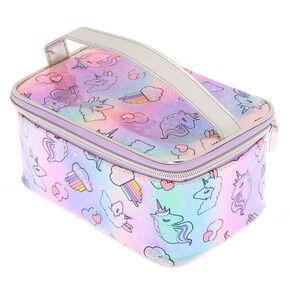 Llamacorn Dreams Top Handle Makeup Bag,