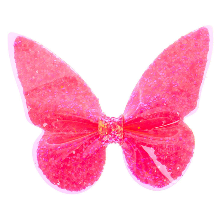Neon Butterfly Hair Clip - Pink,