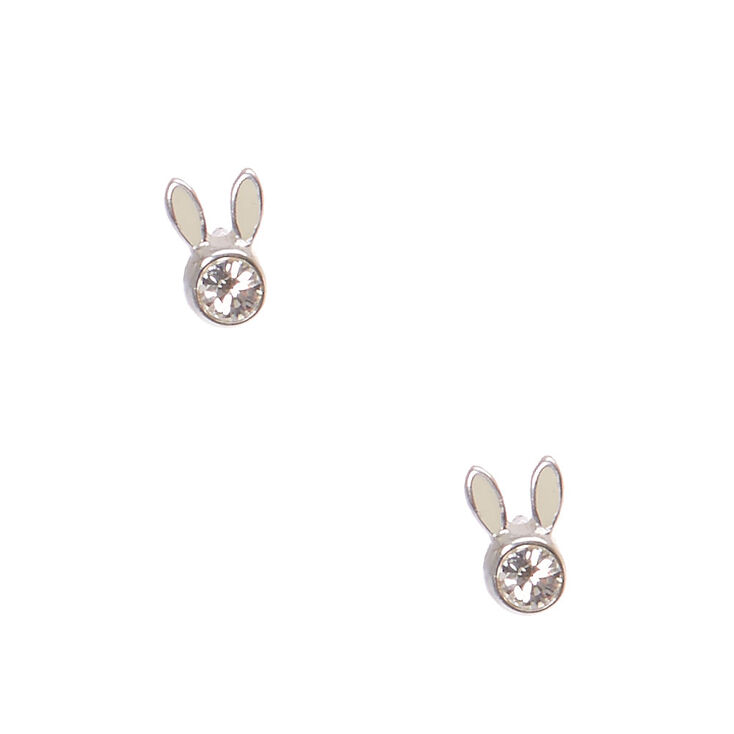 Sterling Silver Rabbit Earrings