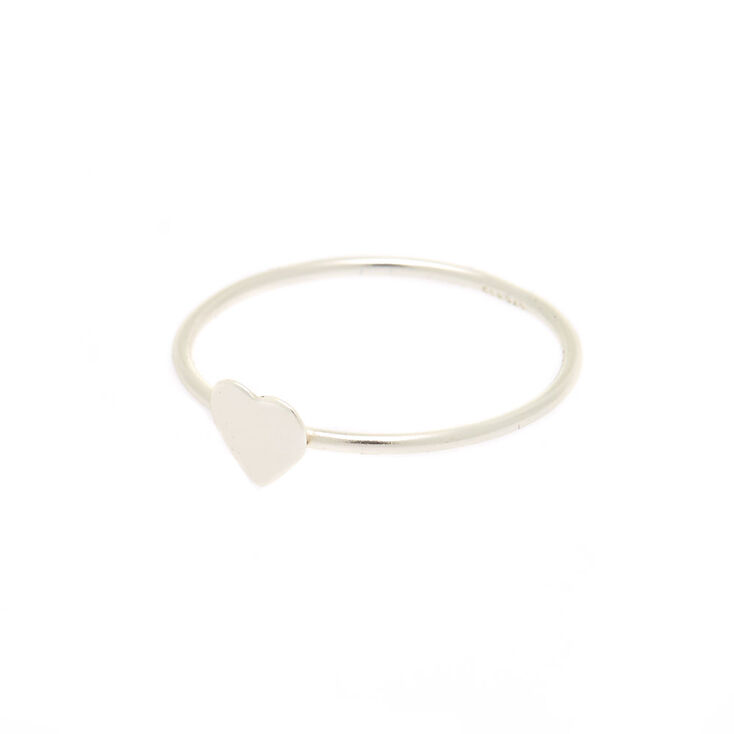 0ed94067ad Sterling Silver Heart Ring | Claire's US